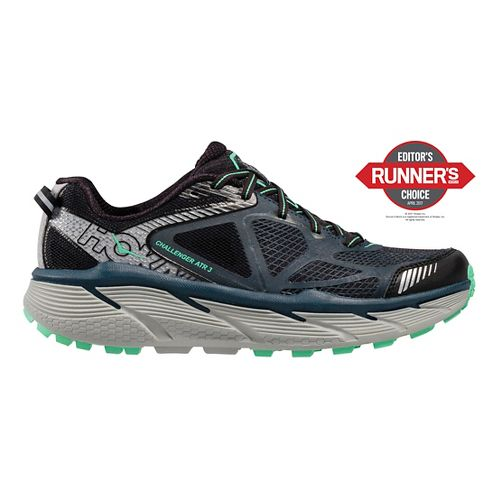 Womens Hoka One One Challenger ATR 3 Trail Running Shoe - Navy/Mint 6