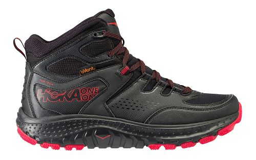 Mens Hoka One One Tor Tech Mid WP Hiking Shoe - Black/Red 10