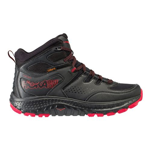 Mens Hoka One One Tor Tech Mid WP Hiking Shoe - Black/Red 7