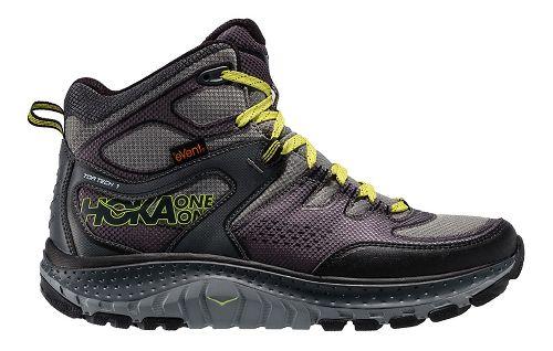 Mens Hoka One One Tor Tech Mid WP Hiking Shoe - Grey/Acid 12