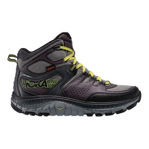 Mens Hoka One One Tor Tech Mid WP Hiking Shoe - Grey/Acid 10.5