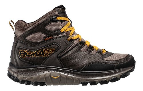Mens Hoka One One Tor Tech Mid WP Hiking Shoe - Brown/Yellow 7