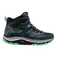 Womens Hoka One One Tor Tech Mid WP Hiking Shoe - Navy/Mint 5.5