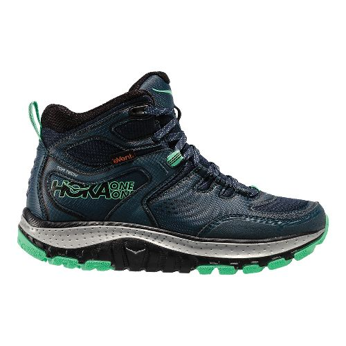 Womens Hoka One One Tor Tech Mid WP Hiking Shoe - Navy/Mint 8.5