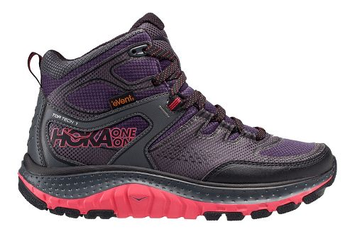 Womens Hoka One One Tor Tech Mid WP Hiking Shoe - Nightshade/Teaberry 9.5