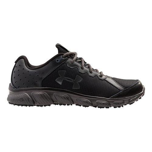 Mens Under Armour Micro G Assert 6 Grit Trail Running Shoe - Black/Charcoal 8.5