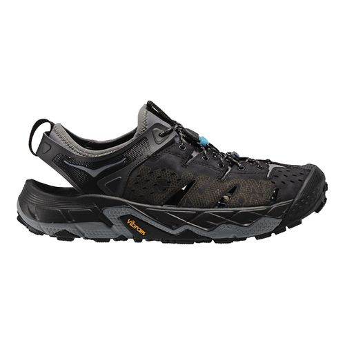Mens Hoka One One Tor Trafa Hiking Shoe - Black/Grey 10.5