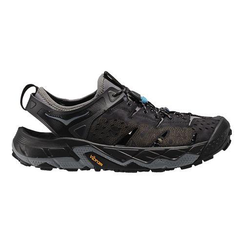 Mens Hoka One One Tor Trafa Hiking Shoe - Black/Grey 7.5