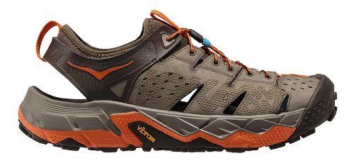 Mens Hoka One One Tor Trafa Hiking Shoe - Brindle/Orange 7.5