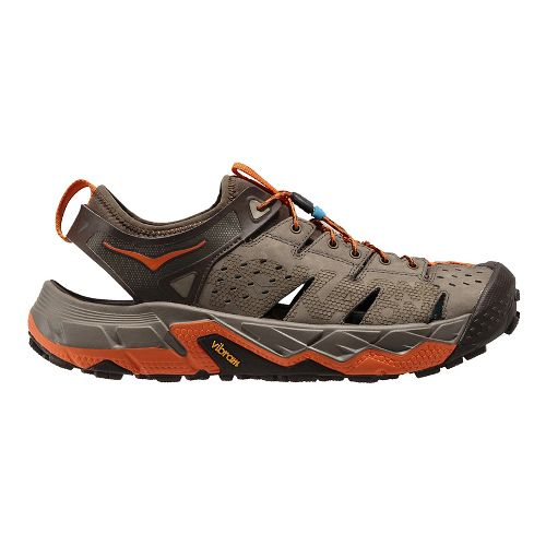 Mens Hoka One One Tor Trafa Hiking Shoe - Brindle/Orange 12.5