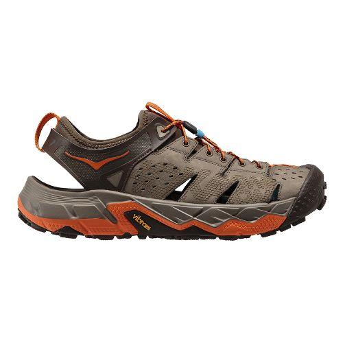 Mens Hoka One One Tor Trafa Hiking Shoe - Brindle/Orange 9.5