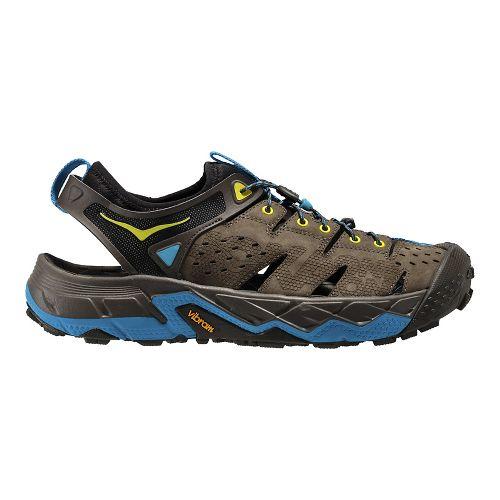 Mens Hoka One One Tor Trafa Hiking Shoe - Brown/Olive 9