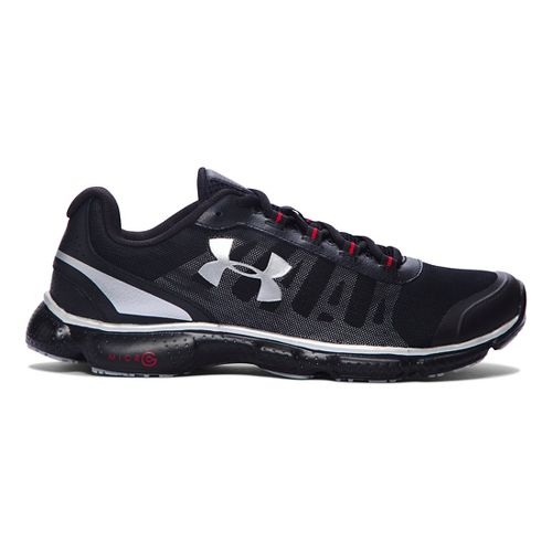 Mens Under Armour Micro G Attack 2 Running Shoe - Black/Black 7.5