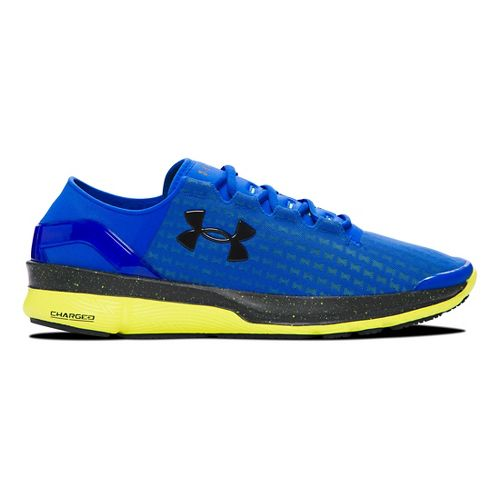 Mens Under Armour Speedform Apollo 2 Clutch Running Shoe - Ultra Blue/Yellow 9