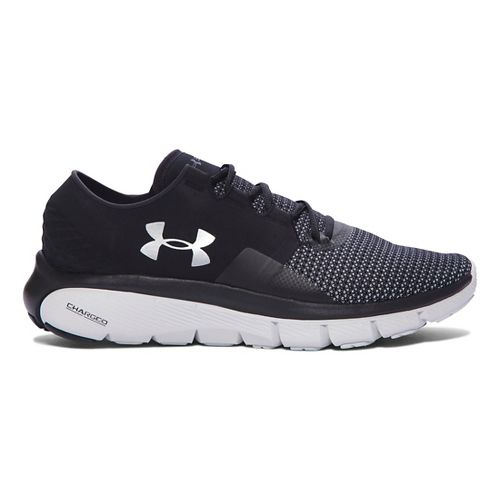 Mens Under Armour Speedform Fortis 2 Running Shoe - Black/Glacier Grey 10