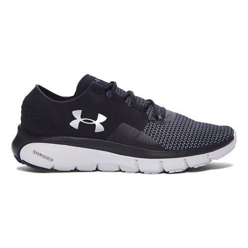 Mens Under Armour Speedform Fortis 2 Running Shoe - Black/Glacier Grey 13