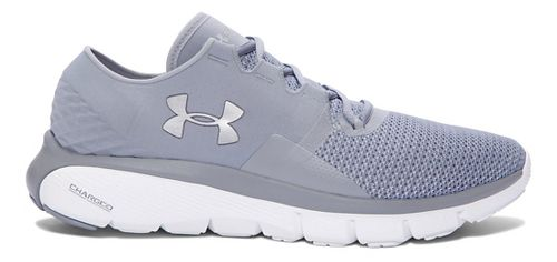 Mens Under Armour Speedform Fortis 2 Running Shoe - Steel/White 8
