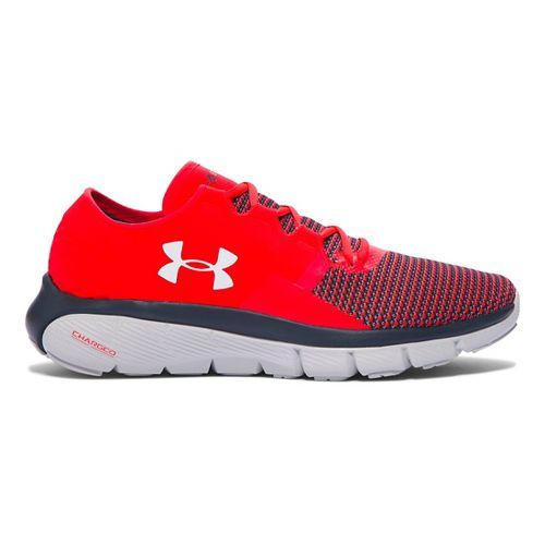 Mens Under Armour Speedform Fortis 2 Running Shoe - Rocket Red/Grey 11.5