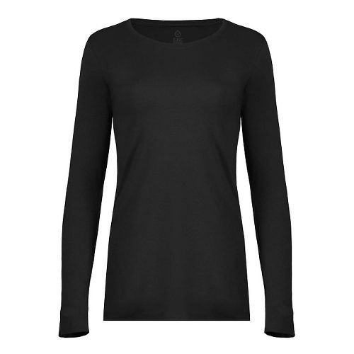Womens Tasc Performance Hybrid Fitted Long Sleeve Technical Tops - Black L