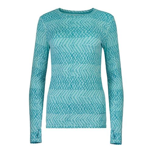 Womens Tasc Performance Hybrid Fitted Print Long Sleeve Technical Tops - Dash Monsoon L