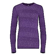 Womens Tasc Performance Hybrid Fitted Print Long Sleeve Technical Tops