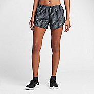 Womens Nike Dry Printed Tempo Lined Shorts - Black XL