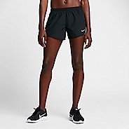 Womens Nike Dry Embossed Tempo Lined Shorts - Black S