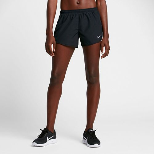Womens Nike Dry Embossed Tempo Lined Shorts - Black L