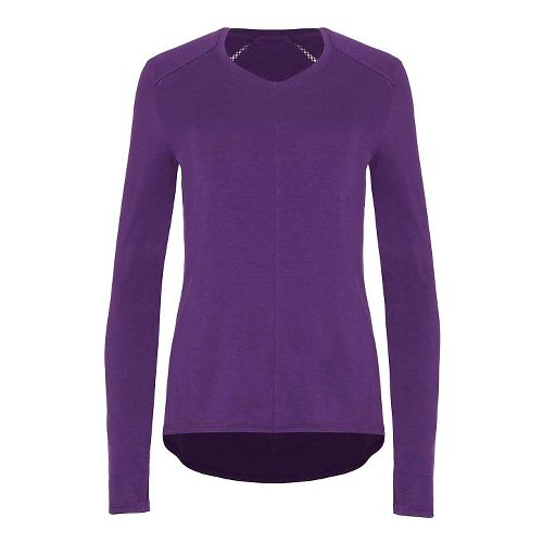 Womens Tasc Performance Jubilee Long Sleeve Technical Tops - Plumberry L