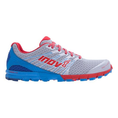 Mens Inov-8 Trail Talon 250 Trail Running Shoe - Silver/Blue/Red 12.5