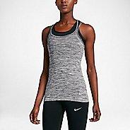 Womens Nike Dri-FIT Knit Sleeveless & Tank Technical Tops - Black/Heather XL
