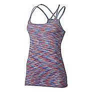 Womens Nike Dri-FIT Knit Sleeveless & Tank Technical Tops - Max Orange/Paramount L