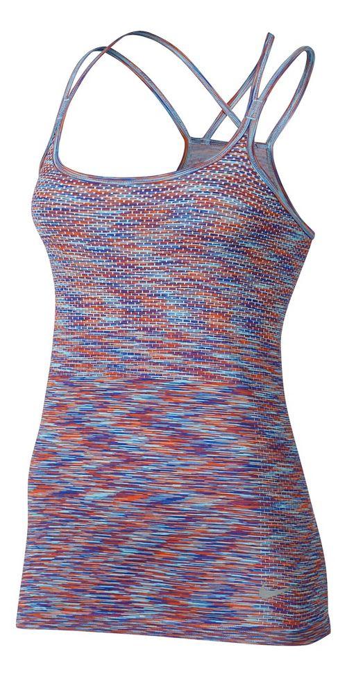Womens Nike Dri-FIT Knit Sleeveless & Tank Technical Tops - Max Orange/Paramount M