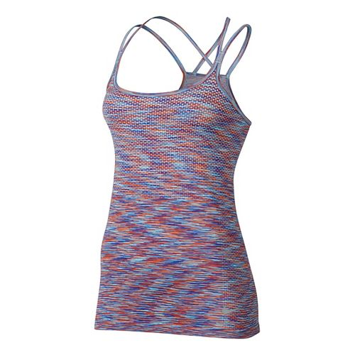 Womens Nike Dri-FIT Knit Sleeveless & Tank Technical Tops - Max Orange/Paramount L