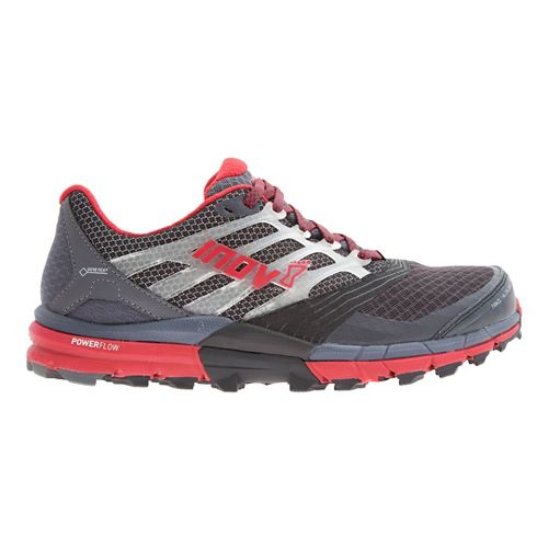 Mens Inov-8 Trail Claw 275 GTX Trail Running Shoe - Grey/Dark Red 10
