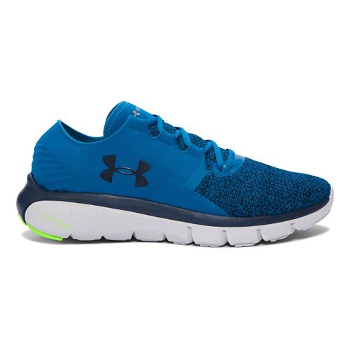 Mens Under Armour Speedform Fortis 2 TXTR Running Shoe - Peacock/Glacier Grey 13