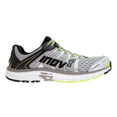 Mens Inov-8 Road Claw 275 Running Shoe - Silver/Grey/Yellow 9.5