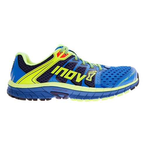 Mens Inov-8 Road Claw 275 Running Shoe - Blue/Lime/Navy 12.5
