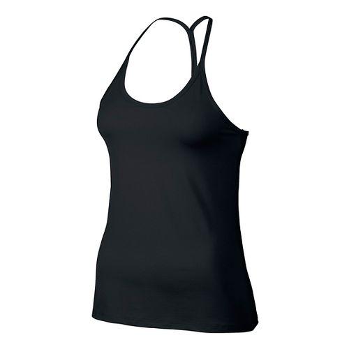 Womens Nike Slim Strappy Sleeveless & Tank Technical Tops - Black M