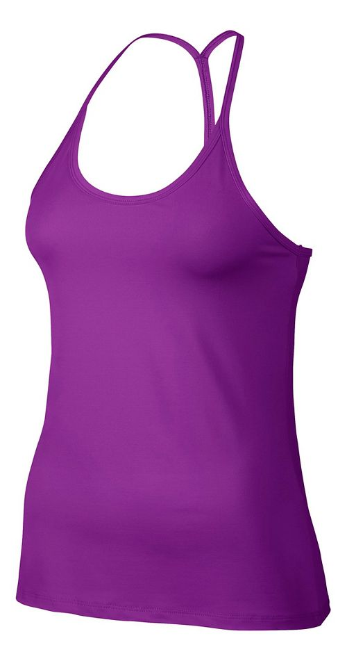 Womens Nike Slim Strappy Sleeveless & Tank Technical Tops - Vivid Purple M