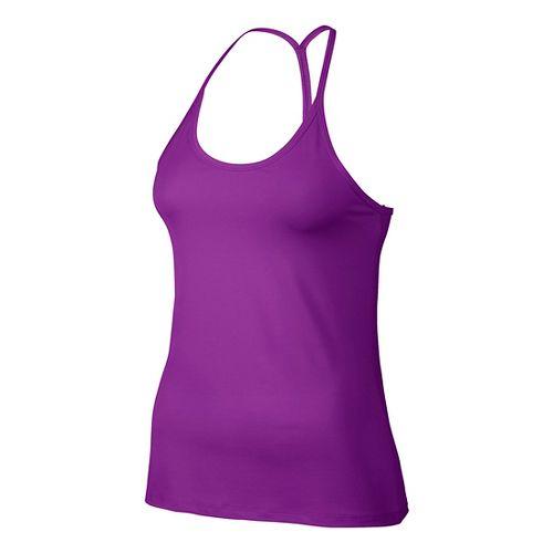Womens Nike Slim Strappy Sleeveless & Tank Technical Tops - Vivid Purple L