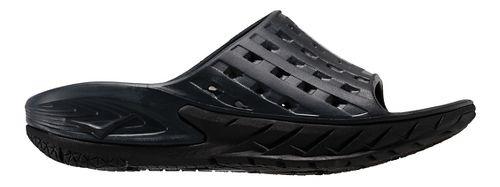 Mens Hoka One One Ora Recovery Slide Sandals Shoe - Black/Grey 10