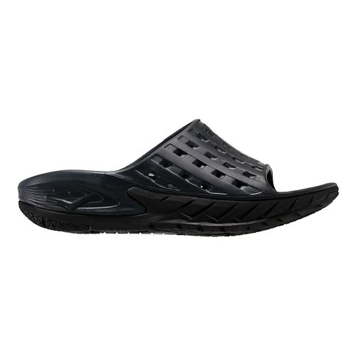Mens Hoka One One Ora Recovery Slide Sandals Shoe - Black/Grey 11