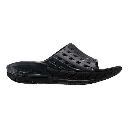 Mens Hoka One One Ora Recovery Slide Sandals Shoe - Black/Grey 9