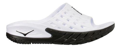 Mens Hoka One One Ora Recovery Slide Sandals Shoe - Black/White 8