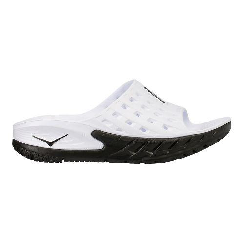 Mens Hoka One One Ora Recovery Slide Sandals Shoe - Black/White 11