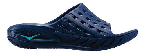 Mens Hoka One One Ora Recovery Slide Sandals Shoe - Blue/Citrus 10