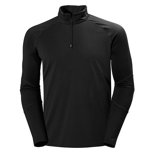 Mens Helly Hansen Phantom 1/2 Zip Midlayer Long Sleeve Technical Tops - Black XXL