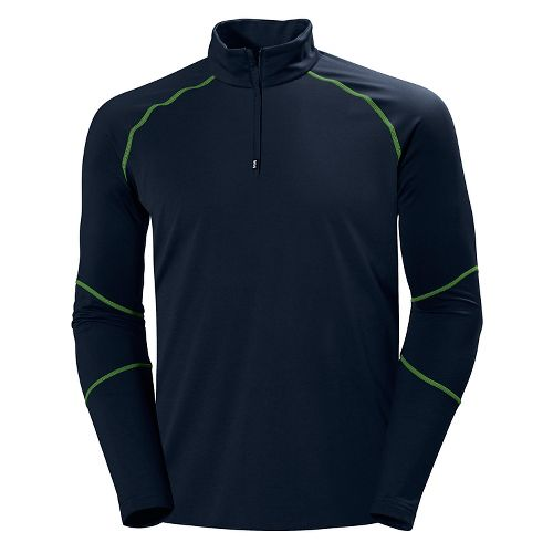 Mens Helly Hansen Phantom 1/2 Zip Midlayer Long Sleeve Technical Tops - Evening Blue L ...