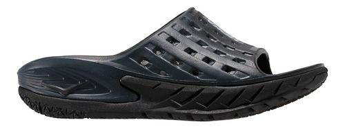 Womens Hoka One One Ora Recovery Slide Sandals Shoe - Black/Grey 8
